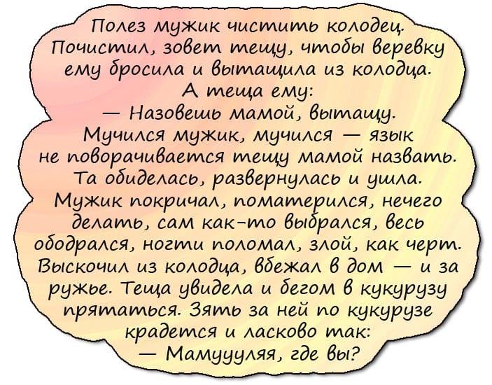 Анекдоты Про Тещу Смешные До Слез